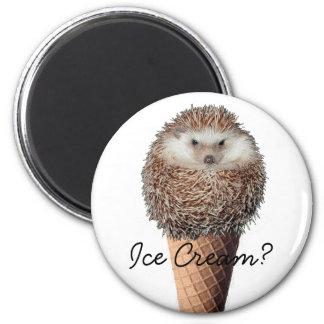 ハリネズミのアイスクリーム マグネット
