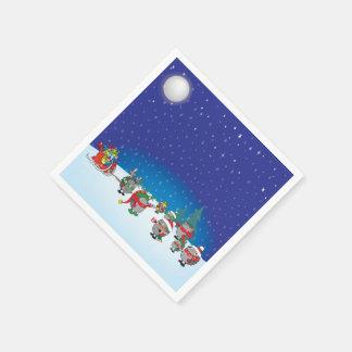 ハリネズミのクリスマスの魔法 スタンダードカクテルナプキン
