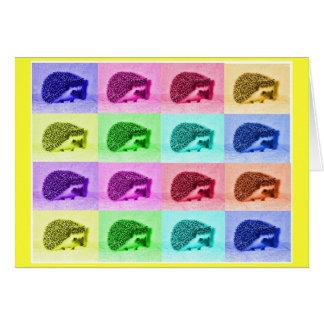 ハリネズミの多くの色相 カード