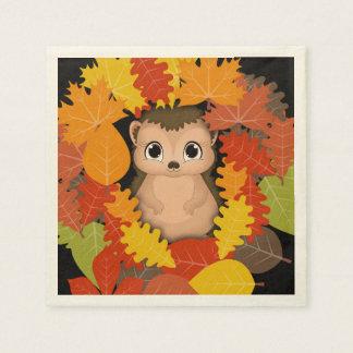 ハリネズミの感謝祭のベージュ色の標準的な紙ナプキン スタンダードカクテルナプキン