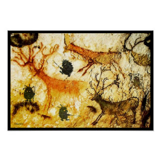 ハリネズミの洞窟壁画 ポスター