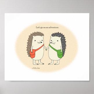ハリネズミの芸術のプリントのかわいいハリネズミポスター装飾 ポスター