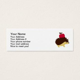 ハリネズミの赤のりんご スキニー名刺