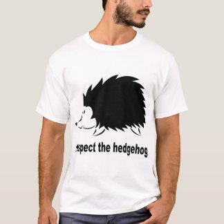 ハリネズミを尊重して下さい Tシャツ