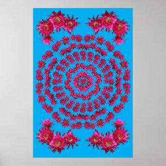 ハリネズミサボテンの曼荼羅1 ポスター