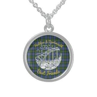 ハリファックスダートマスの親友のネックレスの   タータンチェック スターリングシルバーネックレス