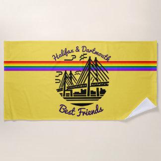 ハリファックスダートマスの親友のビーチタオルの黄色 ビーチタオル