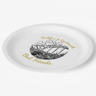 ハリファックスダートマスの親友の紙皿 ペーパープレート