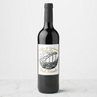 ハリファックスダートマスN.S.の親友のワインのラベル ワインラベル