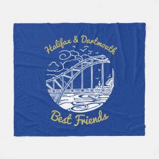 ハリファックスダートマスN.S.の親友毛布の青 フリースブランケット