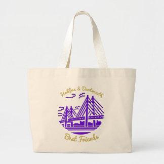 ハリファックス及びダートマスの親友のトートバックの紫色 ラージトートバッグ