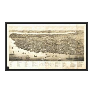 ハリファックス、ノバスコシア、カナダ(1879年)のパノラマ キャンバスプリント