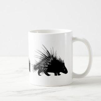 ハリモグラ、ハリネズミ、ヤマアラシのマグ コーヒーマグカップ