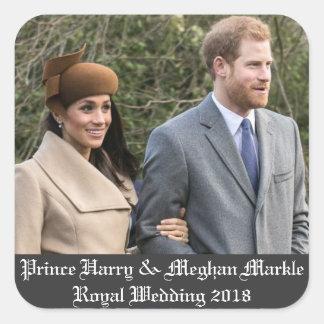 ハリー王子及びMeghan Markleの王室のな結婚式2018年 スクエアシール