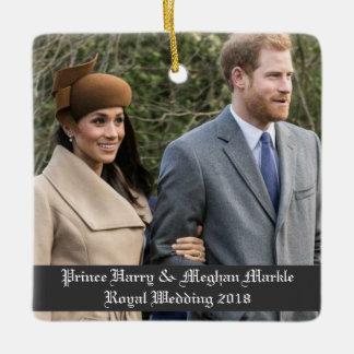 ハリー王子及びMeghan Markleの王室のな結婚式2018年 セラミックオーナメント