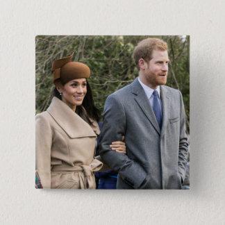 ハリー王子及びMeghan Markleの王室のな結婚式2018年 缶バッジ