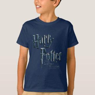 ハリー・ポッターシリーズおよび死んだようにロゴ1を神聖化します Tシャツ