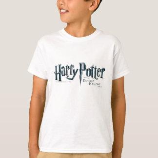 ハリー・ポッターシリーズおよび死んだようにロゴ1 2を神聖化します Tシャツ