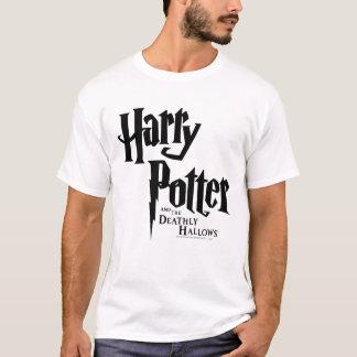 ハリー・ポッターシリーズおよび死んだようにロゴ2を神聖化します Tシャツ