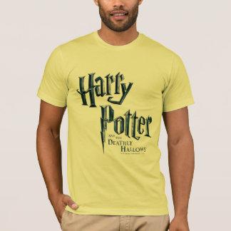 ハリー・ポッターシリーズおよび死んだようにロゴ3を神聖化します Tシャツ