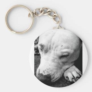 ハリー・ポッターシリーズの傷犬の白いピット・ブル キーホルダー
