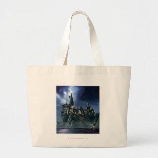 ハリー・ポッターシリーズの城|月明りのHogwarts ラージトートバッグ