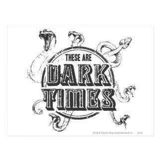 ハリー・ポッターシリーズの綴り|の暗闇の時間 ポストカード