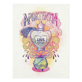 ハリー・ポッターシリーズの綴り| Amortentiaの惚れ薬のボトル ポストカード