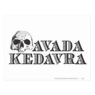 ハリー・ポッターシリーズの綴り| Avada Kedavra ポストカード