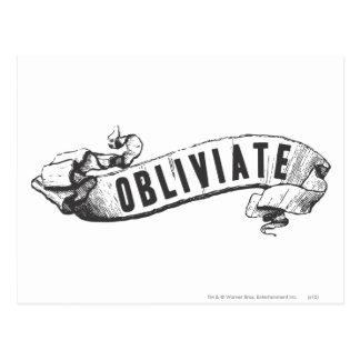 ハリー・ポッターシリーズの綴り| Obliviate ポストカード