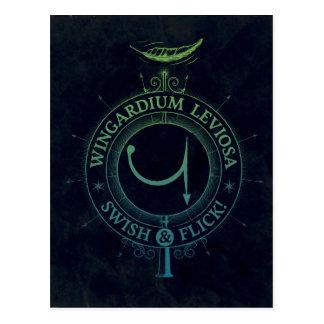 ハリー・ポッターシリーズの綴り| Wingardium Leviosaのグラフィック ポストカード