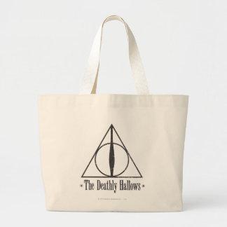 ハリー・ポッターシリーズは 死んだように紋章を神聖化します ラージトートバッグ