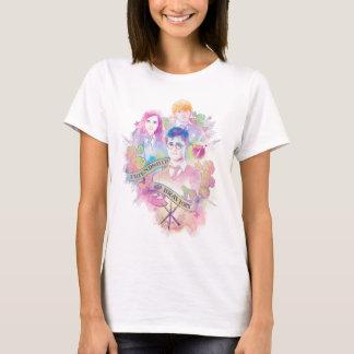 ハリー・ポッターシリーズ ハリー、Hermione、及びRonの水彩画 Tシャツ