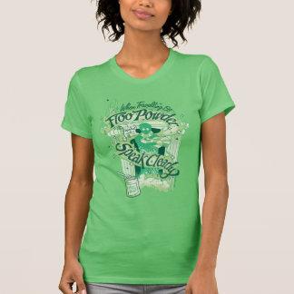 ハリー・ポッターシリーズ| Flooの粉のタイポグラフィのグラフィック Tシャツ