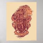 ハリー・ポッターシリーズ| Gryffindorのライオンの頂上 ポスター