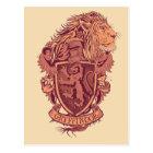 ハリー・ポッターシリーズ| Gryffindorのライオンの頂上 ポストカード