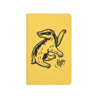 ハリー・ポッターシリーズ| Hufflepuffのアナグマアイコン ポケットジャーナル