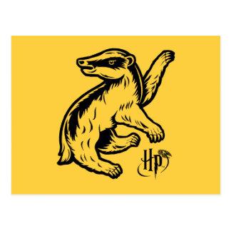 ハリー・ポッターシリーズ| Hufflepuffのアナグマアイコン ポストカード