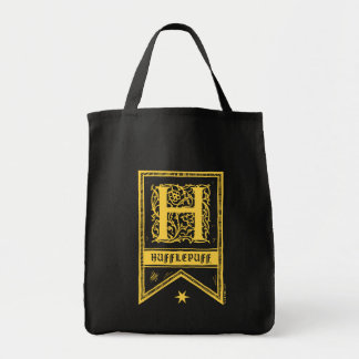 ハリー・ポッターシリーズ| Hufflepuffのモノグラムの旗 トートバッグ
