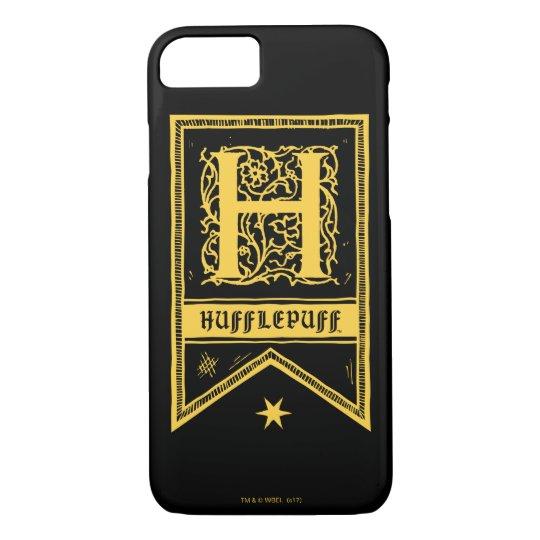 ハリー・ポッターシリーズ| Hufflepuffのモノグラムの旗 iPhone 8/7ケース