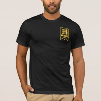ハリー・ポッターシリーズ| Hufflepuffのモノグラムの旗 Tシャツ
