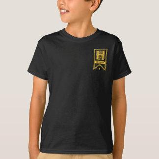 ハリー・ポッターシリーズ  Hufflepuffのモノグラムの旗 Tシャツ