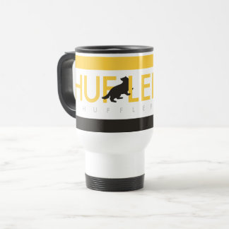 ハリー・ポッターシリーズ| Hufflepuffの家のプライドのロゴ トラベルマグ