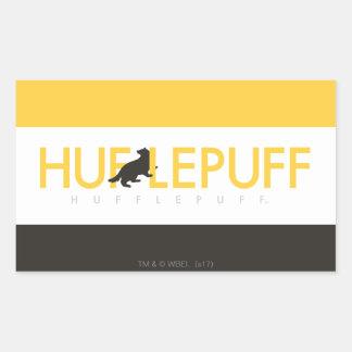 ハリー・ポッターシリーズ| Hufflepuffの家のプライドのロゴ 長方形シール