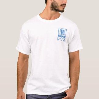 ハリー・ポッターシリーズ| Ravenclawのモノグラムの旗 Tシャツ