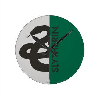 ハリー・ポッターシリーズ| Slytherinの家のプライドのグラフィック ラウンド壁時計