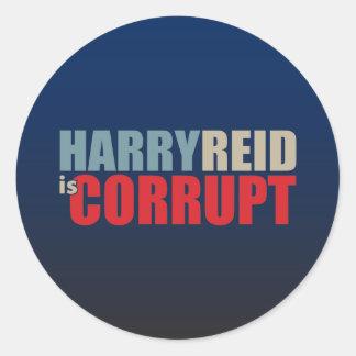 ハリー・リードは不正です ラウンドシール