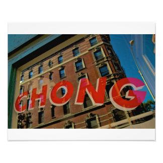 ハリーChongの中国人の洗濯グリニッジの村NYC フォトプリント