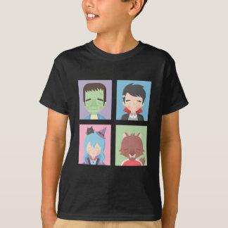 ハロウィンかわいい小さいモンスターはティーをからかいます Tシャツ