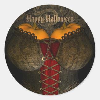 ハロウィンのおもしろいなゴシック様式コルセット ラウンドシール